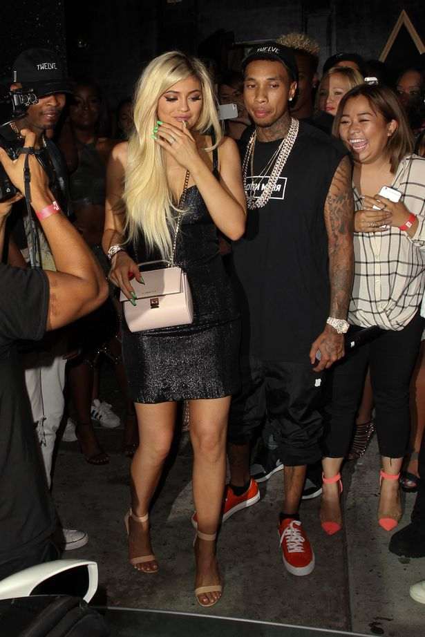Tyga-Gifts-Kylie-Jenner-with-a-Brand-New-Ferrari-at-Bootsy-Bellows-for-her-18th-birthday