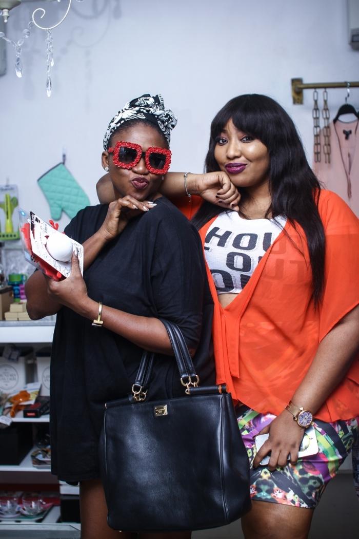 Waje and Latasha Ngwube