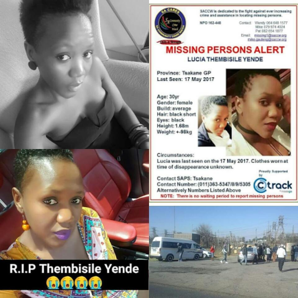 30-Year-Old South African Lucia Thembisile Yende Found Dead In Her